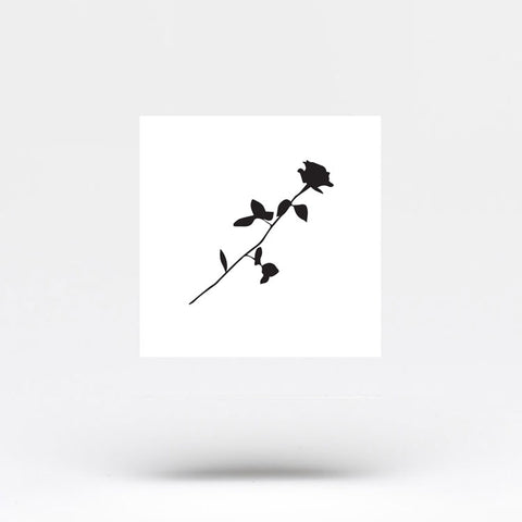 Small Black Rose Temporary Tattoo (Set of 3)