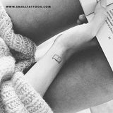 Minimalist Book Temporary Tattoo (Set of 3)