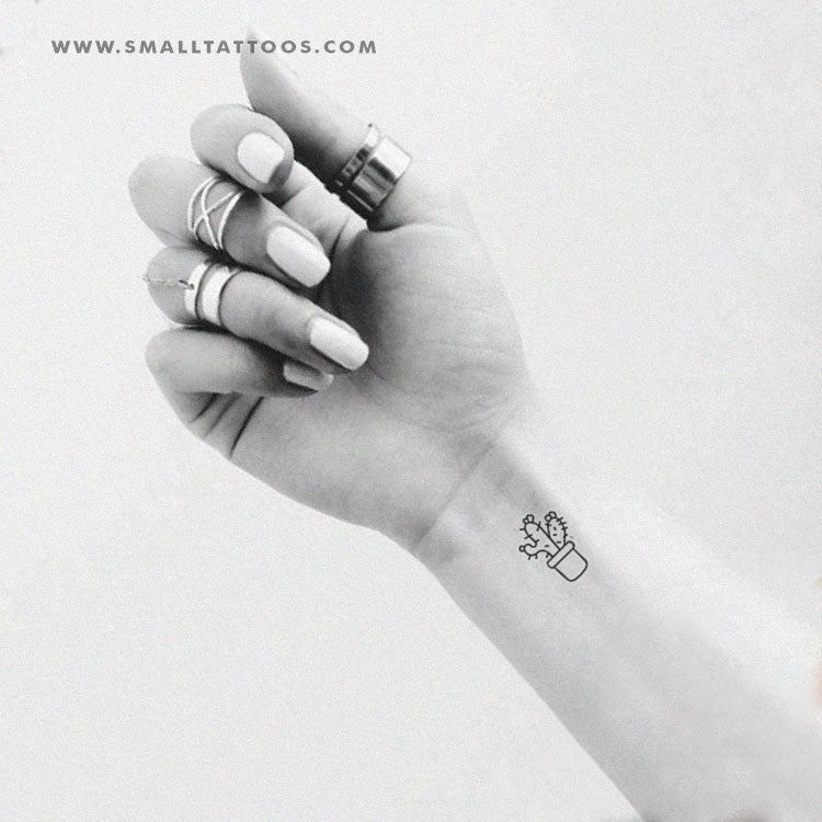 Small Cactus Temporary Tattoo (Set of 3)