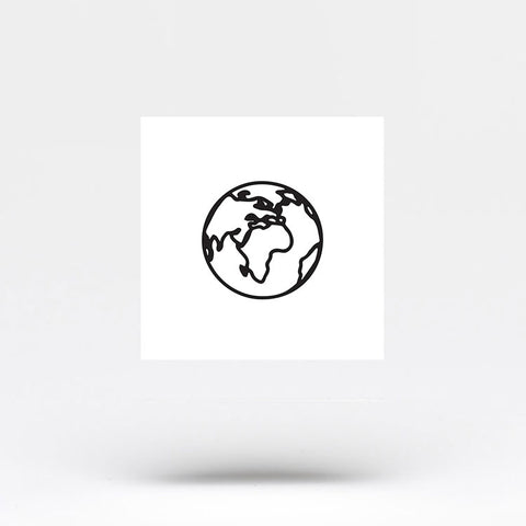 Small Planet Earth (Africa) Temporary Tattoo (Set of 3)