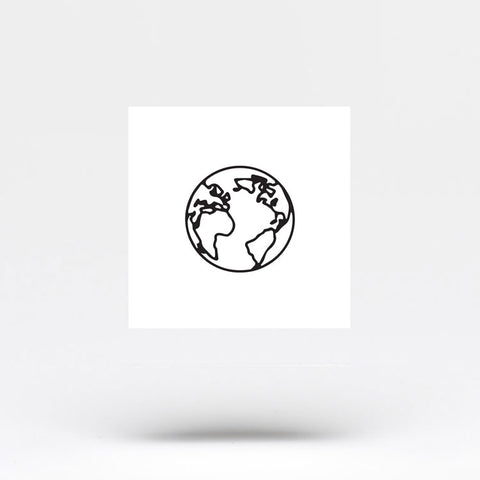 Small Planet Earth (Atlantic Ocean) Temporary Tattoo (Set of 3)