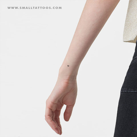 Small Equal Sign Temporary Tattoo (Set of 3)