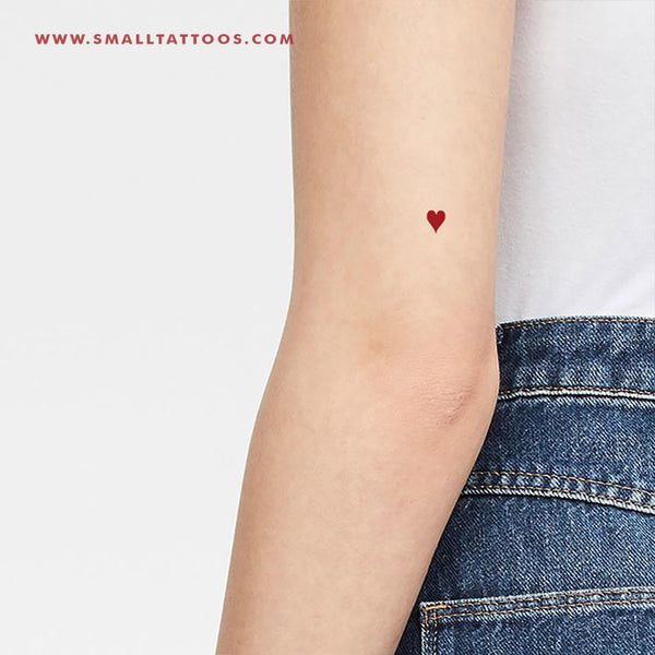 Hearts Suit Temporary Tattoo (Set of 3)