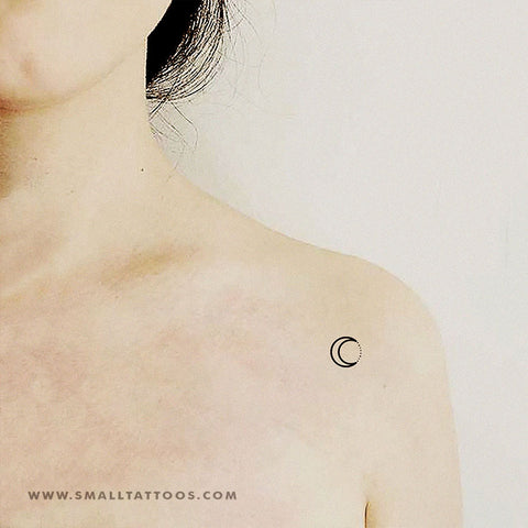 Crescent and Star Dots Temporary Tattoo (Set of 3)