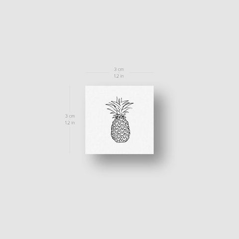 Small Pineapple Temporary Tattoo (Set of 3)
