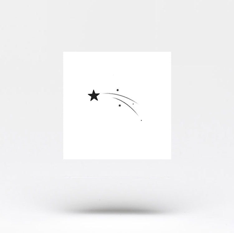 Small Shooting Star Temporary Tattoo (Set of 3)