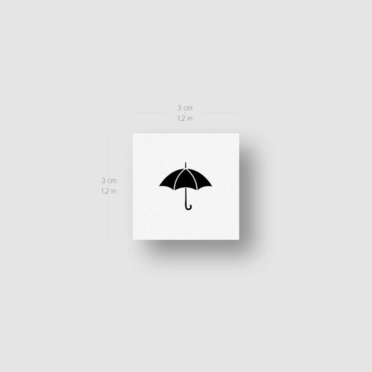 Small Umbrella Temporary Tattoo (Set of 3)