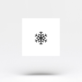 Small Snowflake Temporary Tattoo (Set of 3)