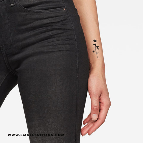 Black Rose Temporary Tattoo (Set of 3)