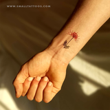 Red Spider Lily Temporary Tattoo by Zihee (Set of 3)