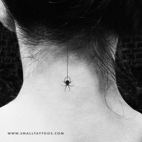Hanging Spider Temporary Tattoo (Set of 3)