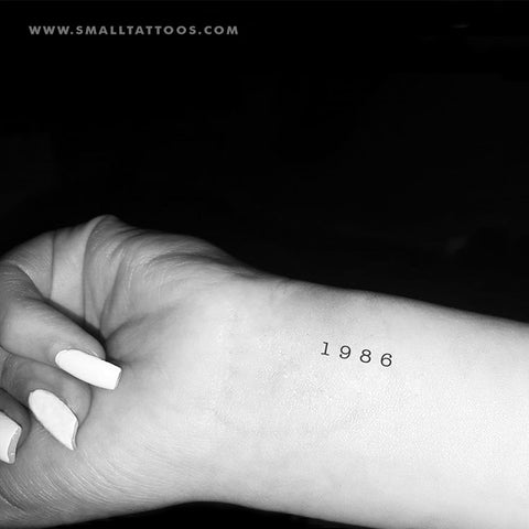 1986 Birth Year Temporary Tattoo (Set of 3)