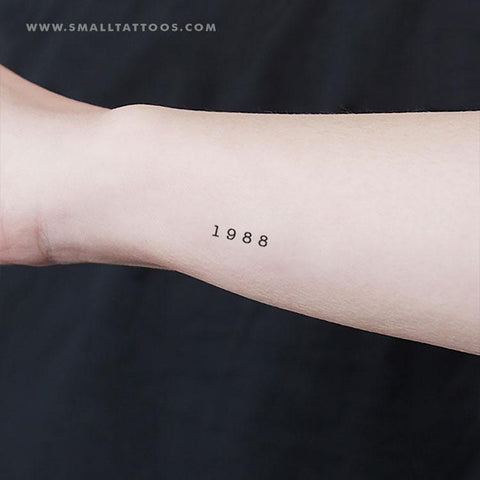 1988 birth year temporary tattoo