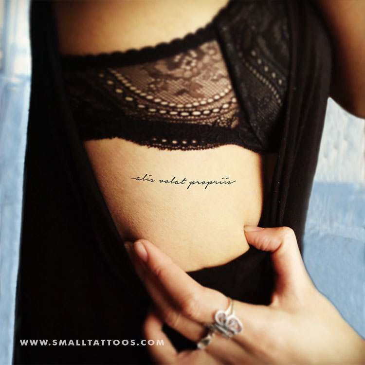 Alis Volat Propriis Temporary Tattoo (Set of 3)