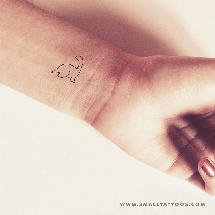 Diplodocus Dinosaur Temporary Tattoo (Set of 3)