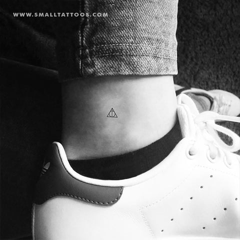 Small Deathly Hallows Temporary Tattoo (Set of 3)