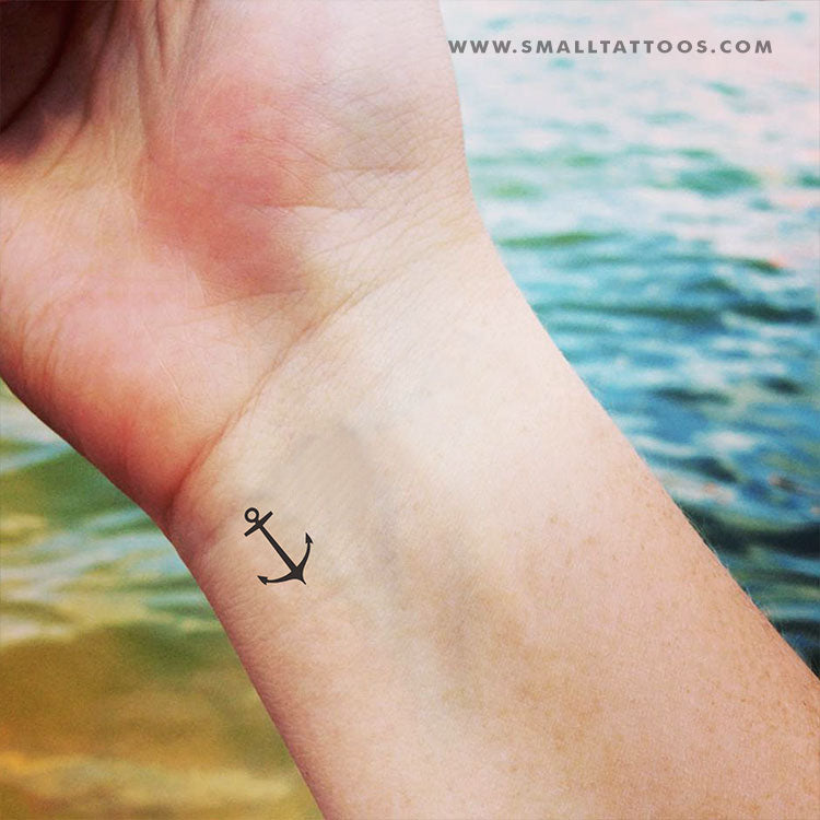 Minimalist Anchor Temporary Tattoo (Set of 3)