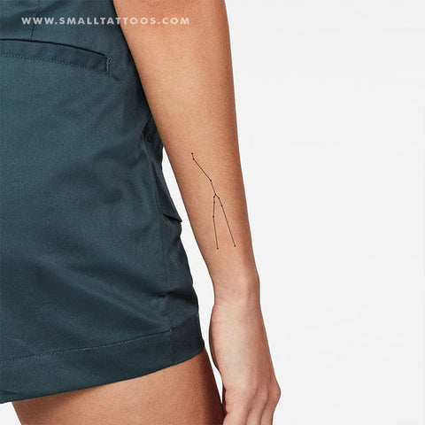 Taurus Constellation Temporary Tattoo (Set of 2)