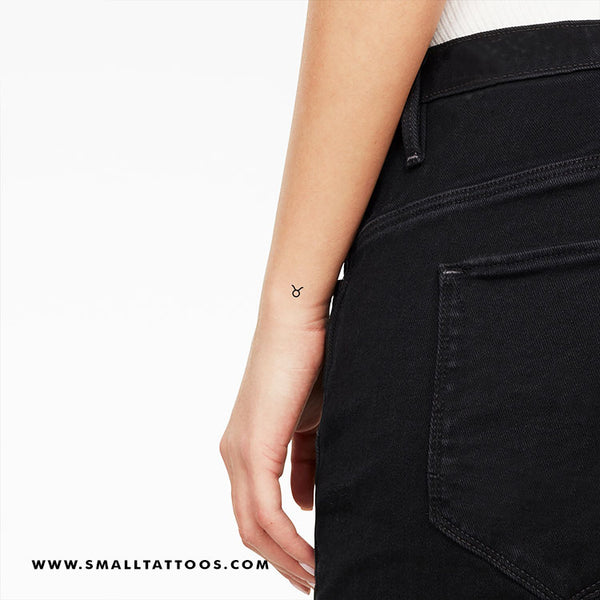 Taurus Zodiac Symbol Temporary Tattoo (Set of 3)