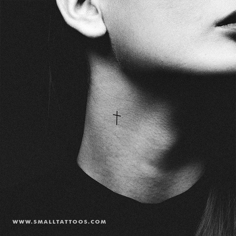 Minimalist Cross Temporary Tattoo (Set of 3)
