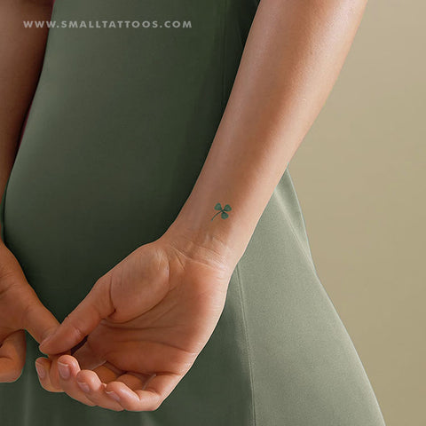 Three Leaf Clover Temporary Tattoo by Zihee (Set of 2)