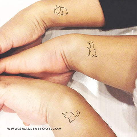 Matching Dinosaur Temporary Tattoo (Set of 3x2)