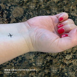 Tiny Airplane Temporary Tattoo (Set of 3)