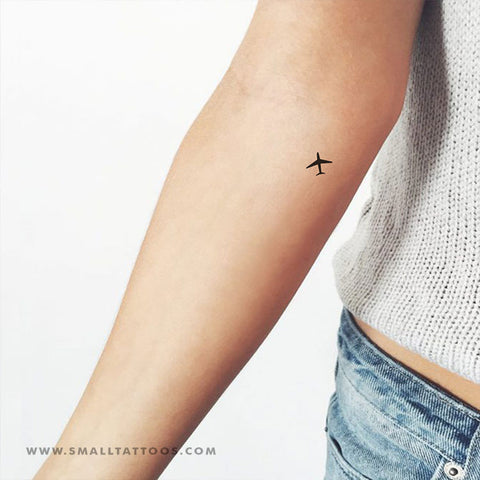 Small Airplane Temporary Tattoo (Set of 4)