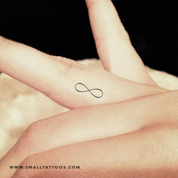 Tiny Fine Line Infinity Symbol Temporary Tattoo (Set of 3)