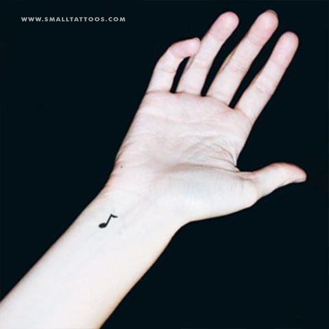 Music Note Temporary Tattoo (Set of 4)