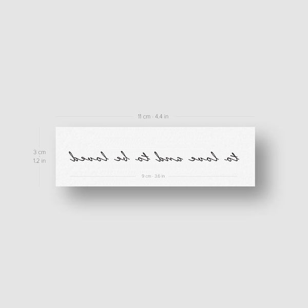 To Love and To Be Loved Temporary Tattoo (Set of 3)