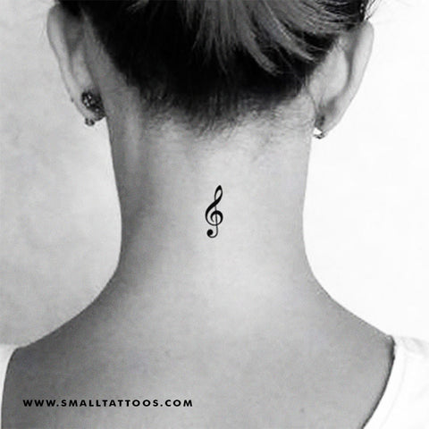 Treble Clef Temporary Tattoo (Set of 3)