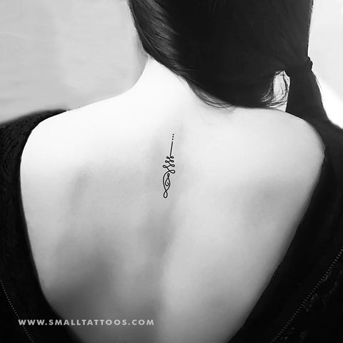Unalome Temporary Tattoo (Set of 3)