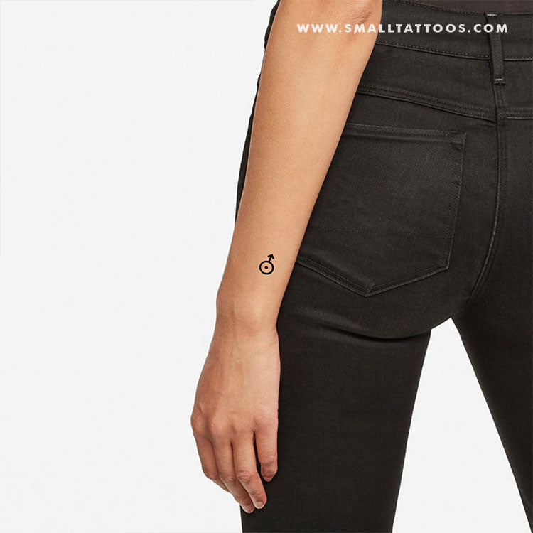 Uranus Planetary Symbol Temporary Tattoo (Set of 3)