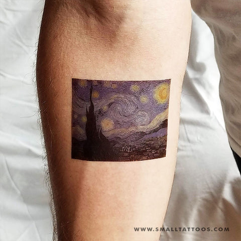 The Starry Night Temporary Tattoo (Set of 2)