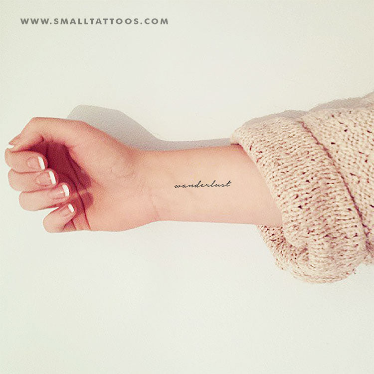 'Wanderlust' Temporary Tattoo (Set of 3)