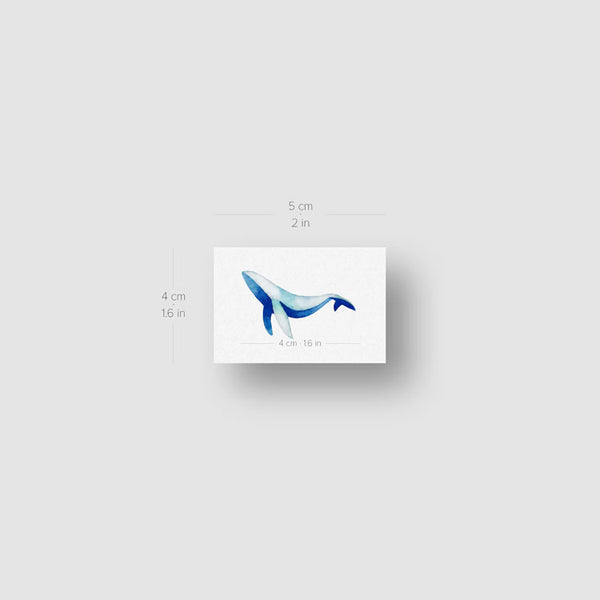 Whale Temporary Tattoo by Zihee (Set of 3)