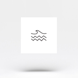 Minimalist Sea Temporary Tattoo (Set of 3)