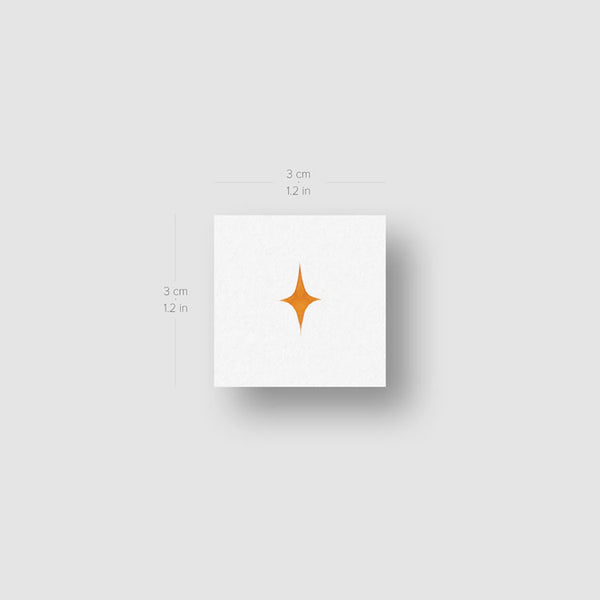 Tiny Yellow Star Temporary Tattoo by Zihee (Set of 3)
