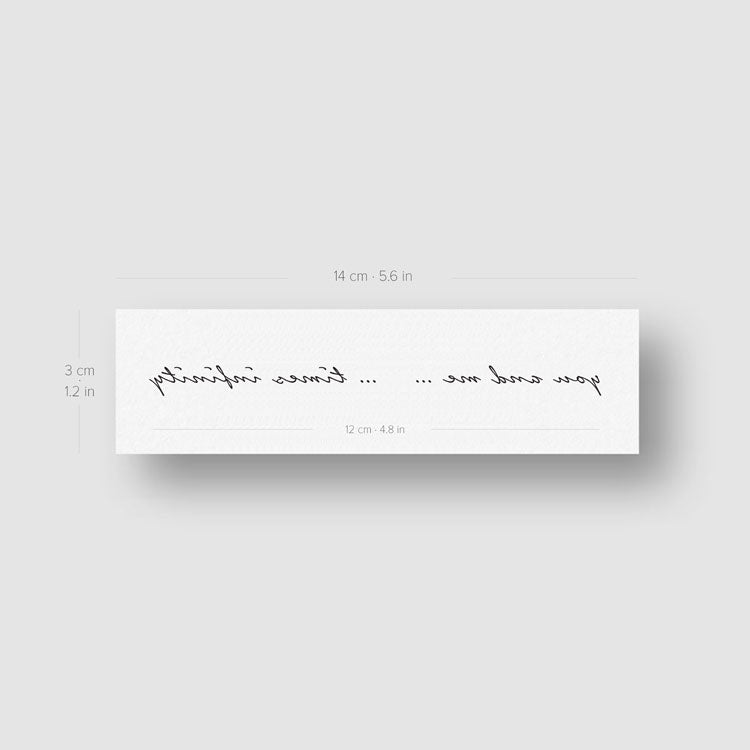 You And Me Times Infinity Temporary Tattoo (Set of 2)