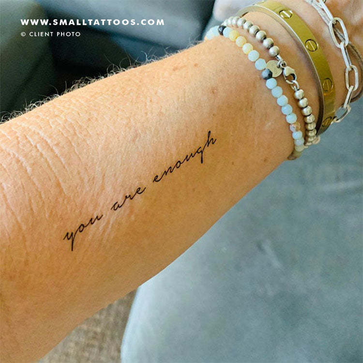 You Are Enough Temporary Tattoo (Set of 3)