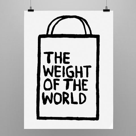 "Uwe Lewitzky Poster – ""The weight of the world"""