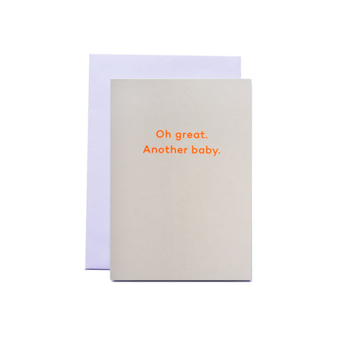 """Oh great. Another baby."" by Mean Mail – GUDBERG NERGER Shop"