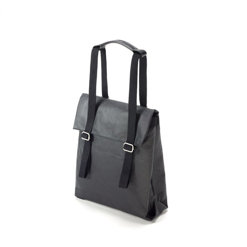 QWSTION Small Tote - Organic Jet Black - buy at GUDBERG NERGER Shop