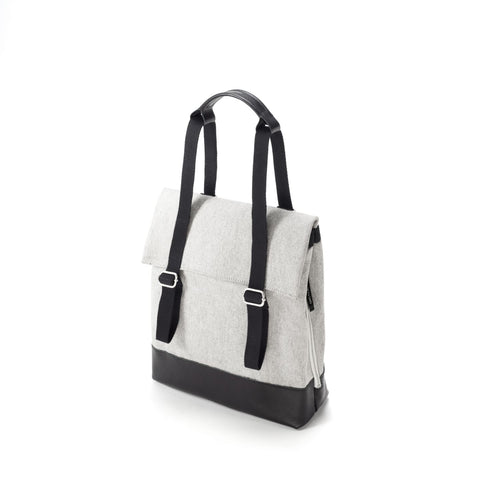 QWSTION Small Tote - Raw Blend Leather Canvas - GUDBERG NERGER Shop