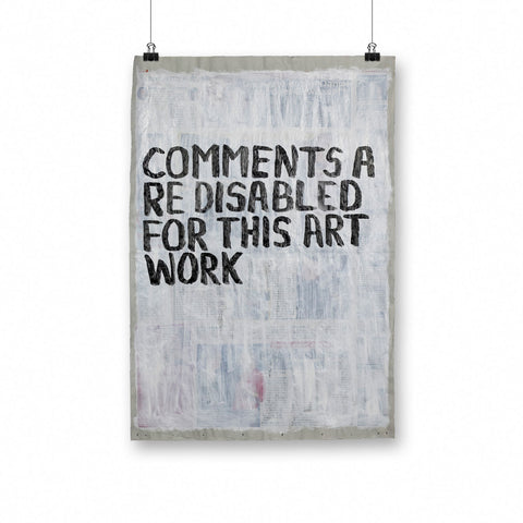Uwe Lewitzky – Comments are disabled for this work, 2018