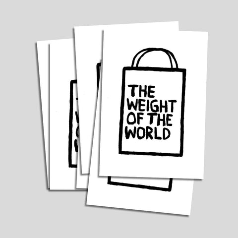 "Uwe Lewitzky Postcard – ""The weight of the world"""