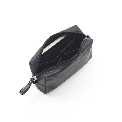 QWSTION Amenity Pouch - Organic Jet Black - GUDBERG NERGER Shop