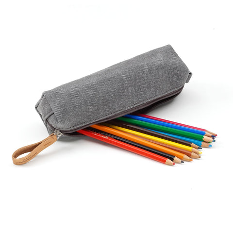 QWSTION Pencil Pouch – Washed Grey – buy at GUDBERG NERGER SHOP