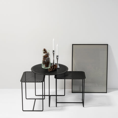 Grid 01 Side Table – Black – buy at GUDBERG NERGER Shop